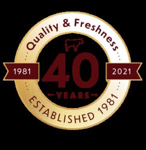 40 years badge